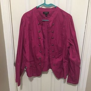 Torrid Military Blazer Jacket 2x Magenta EUC